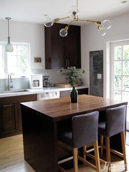 欧式风格别墅富裕型厨房餐桌海外家居