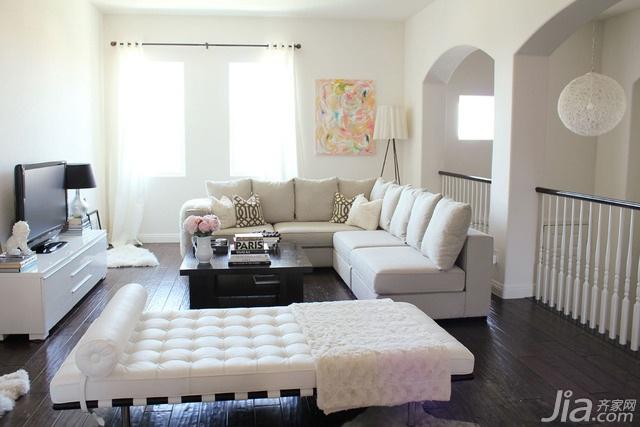 简约风格别墅简洁白色15-20万客厅沙发海外家居