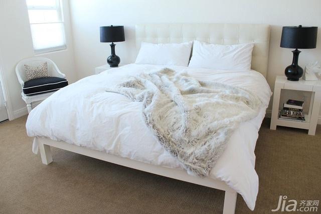 简约风格别墅简洁黑白15-20万卧室床海外家居