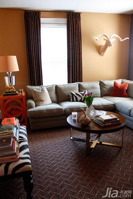 简约风格别墅简洁富裕型客厅沙发海外家居