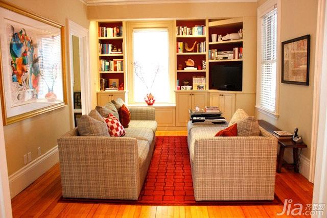 简约风格别墅简洁富裕型客厅沙发背景墙沙发海外家居