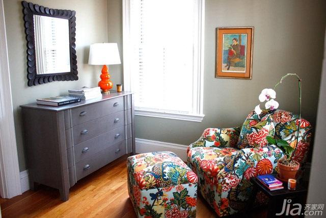 简约风格别墅简洁富裕型卧室卧室背景墙沙发海外家居