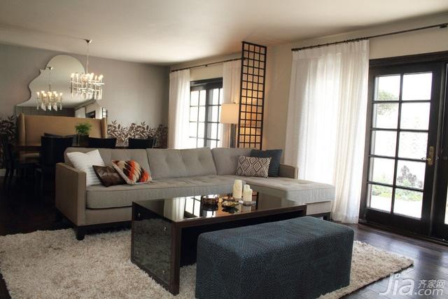 简约风格别墅富裕型110平米客厅沙发海外家居