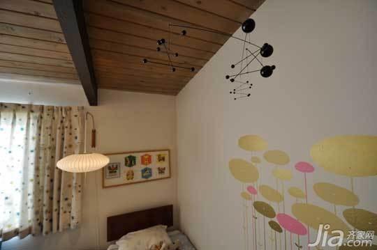 简约风格公寓经济型40平米墙贴图片