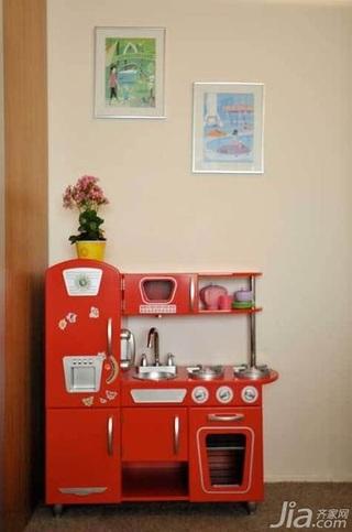 简约风格公寓红色经济型40平米橱柜订做