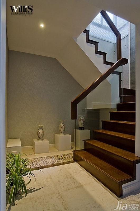 中式风格复式富裕型楼梯装修效果图