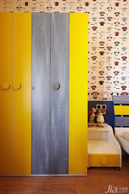 简约风格四房富裕型140平米以上儿童房衣柜定制