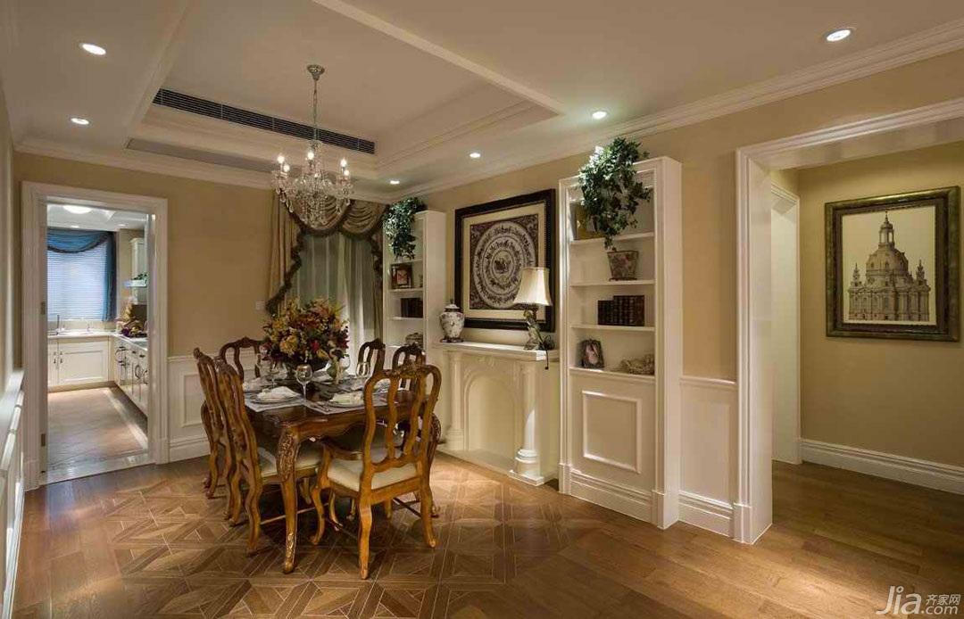 欧式风格三居室奢华豪华型餐厅背景墙餐桌图片