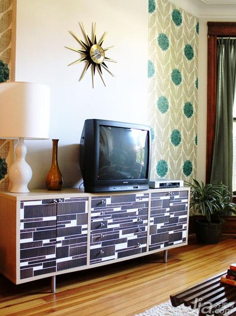 简约风格别墅经济型140平米以上电视背景墙电视柜海外家居