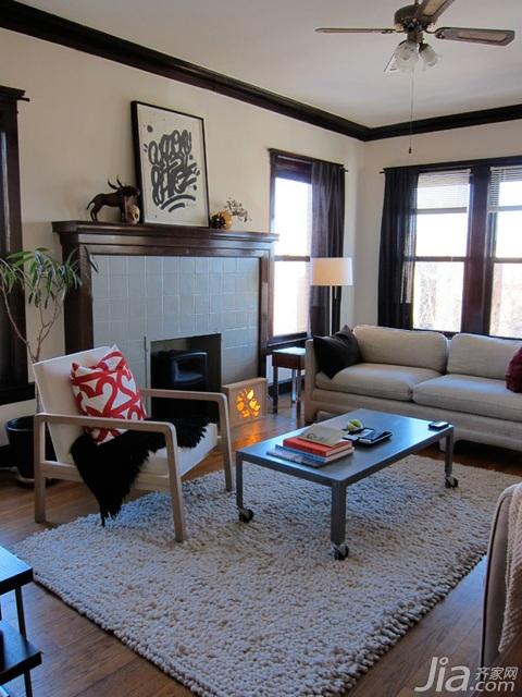 收藏 公寓装修,120平米装修,经济型装修,简约风格,海...