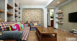 loft风格跃层富裕型140平米以上客厅背景墙壁纸图片