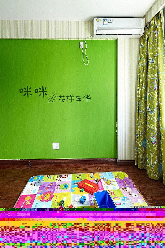 loft风格跃层绿色富裕型140平米以上书房背景墙壁纸图片