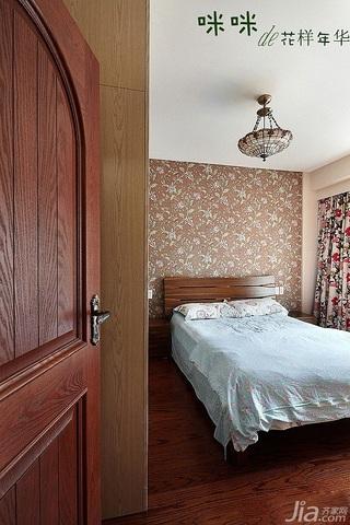 loft风格跃层富裕型140平米以上卧室背景墙壁纸图片