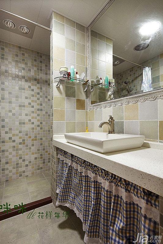 loft风格跃层富裕型140平米以上卫生间洗手台效果图