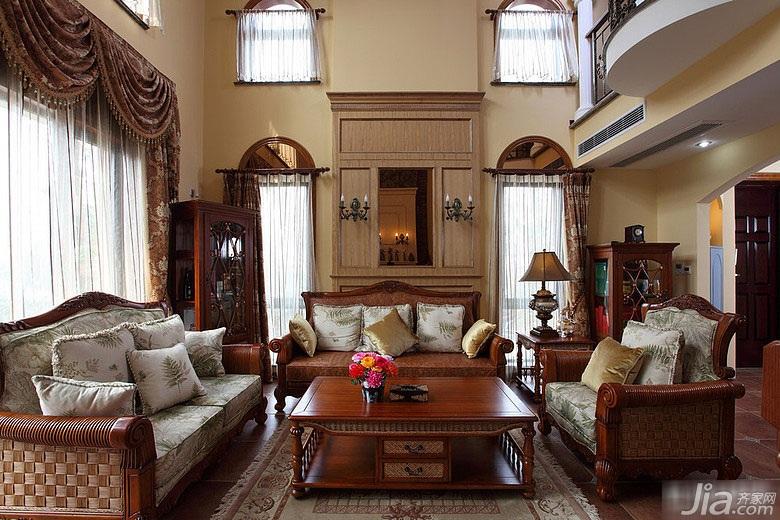 别墅奢华20万以上140平米以上客厅沙发效果图