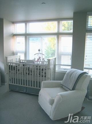 欧式风格公寓白色70平米儿童房婴儿床图片