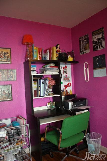 混搭风格别墅经济型100平米书房书桌海外家居