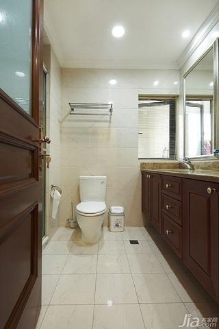 简欧风格四房20万以上140平米以上卫生间吊顶洗手台效果图