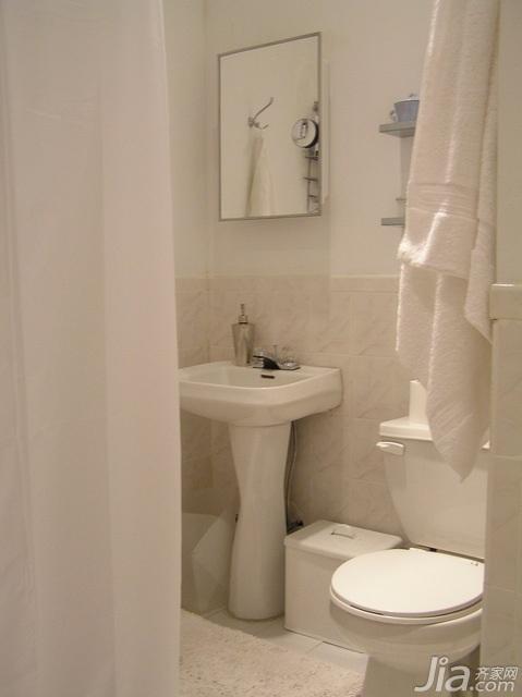 简约风格公寓白色经济型60平米马桶海外家居