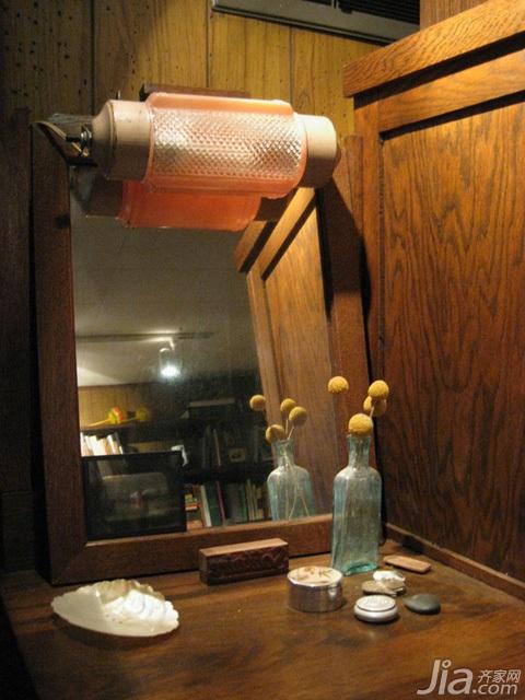 美式乡村风格别墅经济型110平米卧室梳妆台海外家居