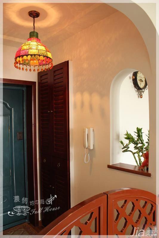 混搭风格三居室15-20万110平米门厅灯具婚房家装图