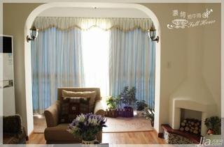 混搭风格三居室15-20万110平米阳台窗帘婚房设计图
