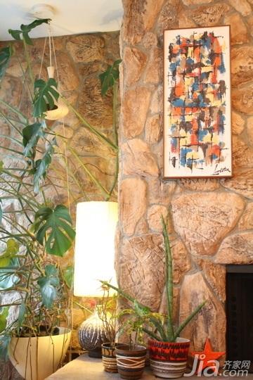 混搭风格别墅经济型140平米以上电视背景墙灯具海外家居