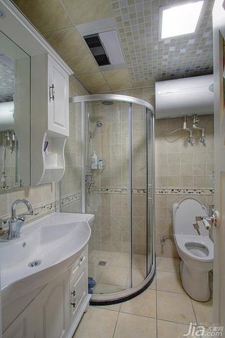 田园风格三居室5-10万80平米卫生间吊顶洗手台图片