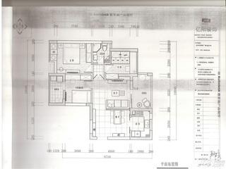 田园风格三居室5-10万80平米户型图