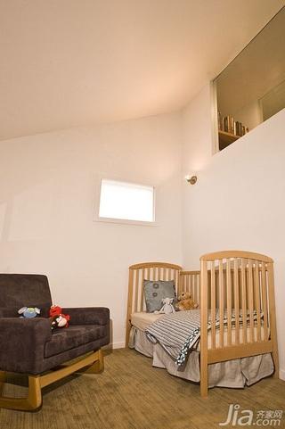 简约风格别墅经济型120平米儿童房儿童床海外家居
