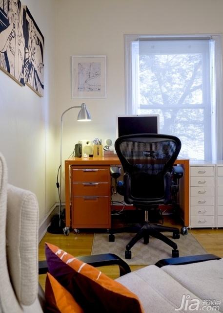 北欧风格小户型经济型70平米书桌图片