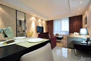 简欧风格二居室富裕型客厅背景墙装修效果图