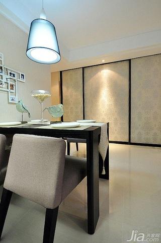 简欧风格二居室富裕型餐厅餐桌图片