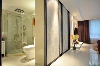 简欧风格二居室富裕型卫生间过道设计