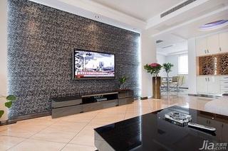 简约风格富裕型120平米客厅电视背景墙电视柜图片