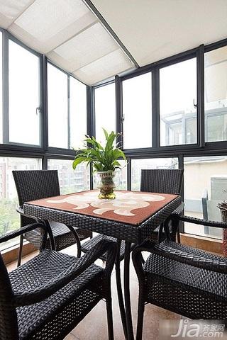 简约风格富裕型120平米阳台吊顶设计