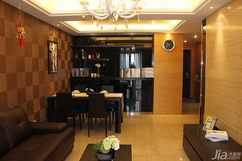简约风格二居室10-15万80平米餐厅餐厅背景墙餐桌效果图