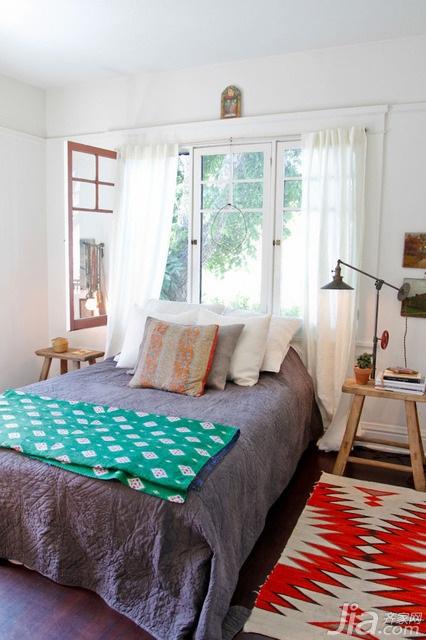 混搭风格公寓经济型140平米以上卧室床效果图