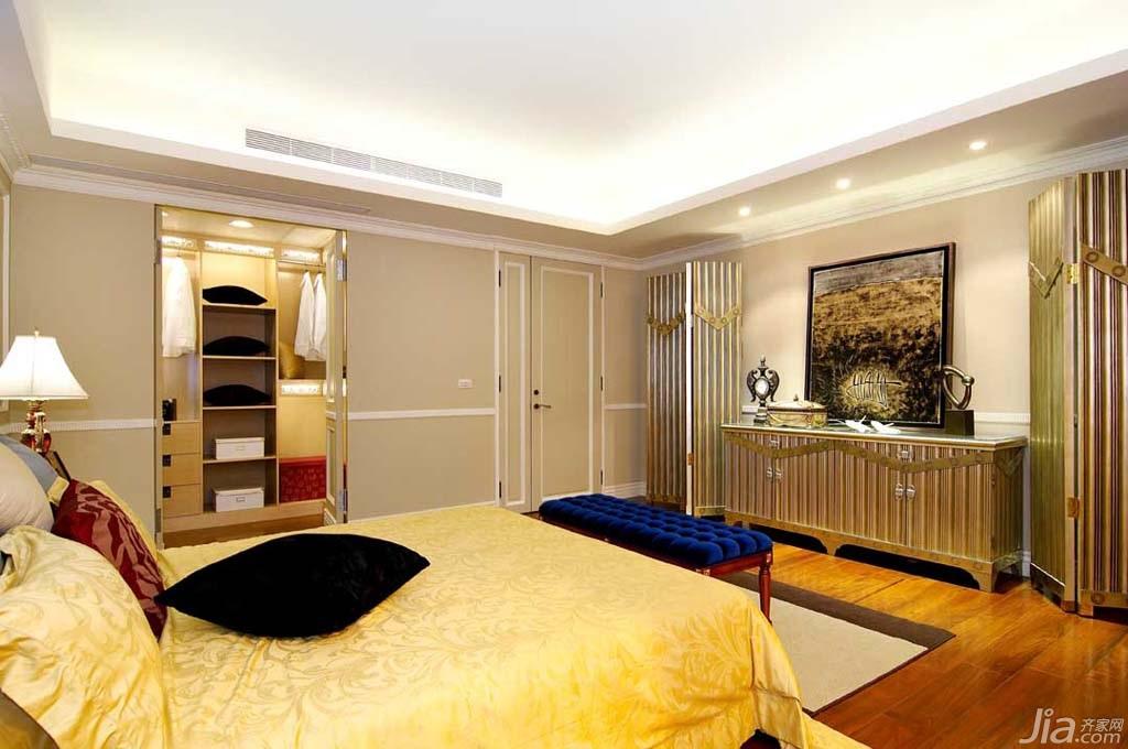 新古典风格别墅豪华型140平米以上卧室地台床台湾家居