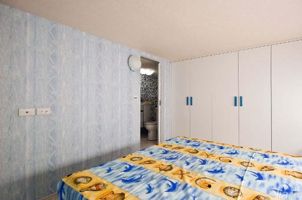 地中海风格公寓富裕型80平米卧室衣柜台湾家居