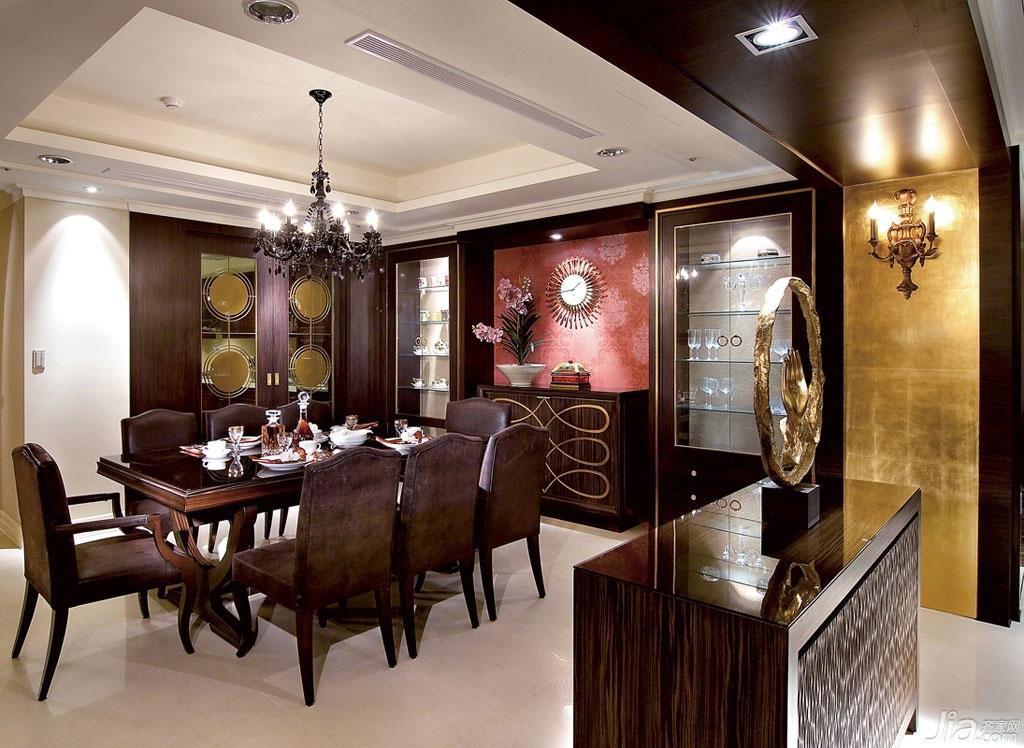 新古典风格四房以上奢华豪华型140平米以上餐厅吊顶餐桌台湾家居