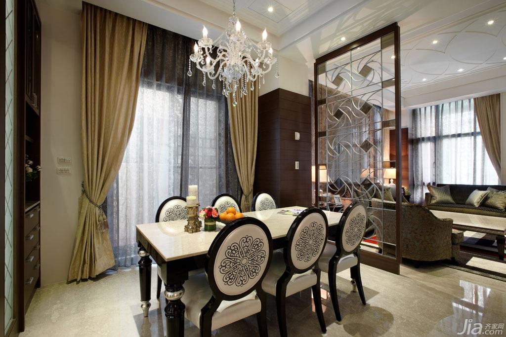 新古典风格别墅豪华型140平米以上餐厅隔断餐桌台湾家居