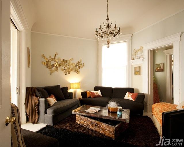 簡歐式通透家 巴洛克風情一居室