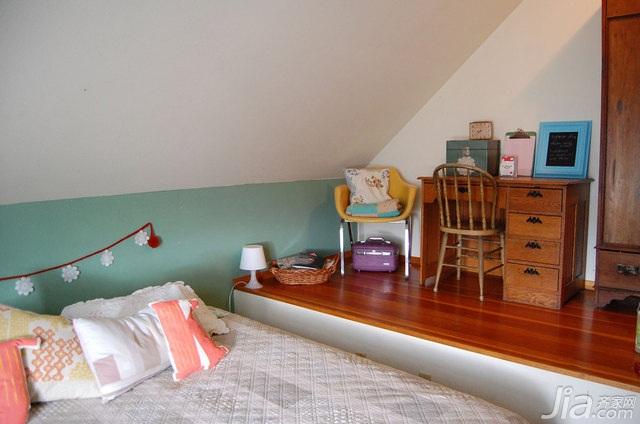 混搭风格别墅富裕型卧室书桌海外家居