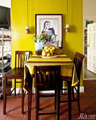 混搭风格别墅黄色富裕型餐桌海外家居