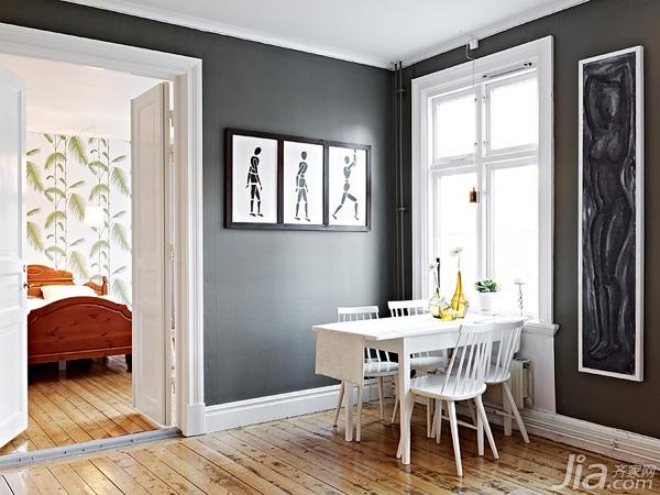 简约风格小户型黑白经济型70平米餐厅餐桌海外家居
