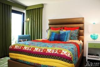 混搭风格别墅民族风豪华型卧室床海外家居