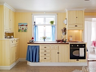 简约风格别墅黄色经济型100平米厨房橱柜海外家居