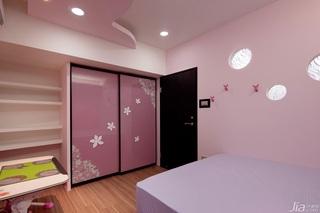 混搭风格公寓粉色富裕型120平米儿童房衣柜海外家居