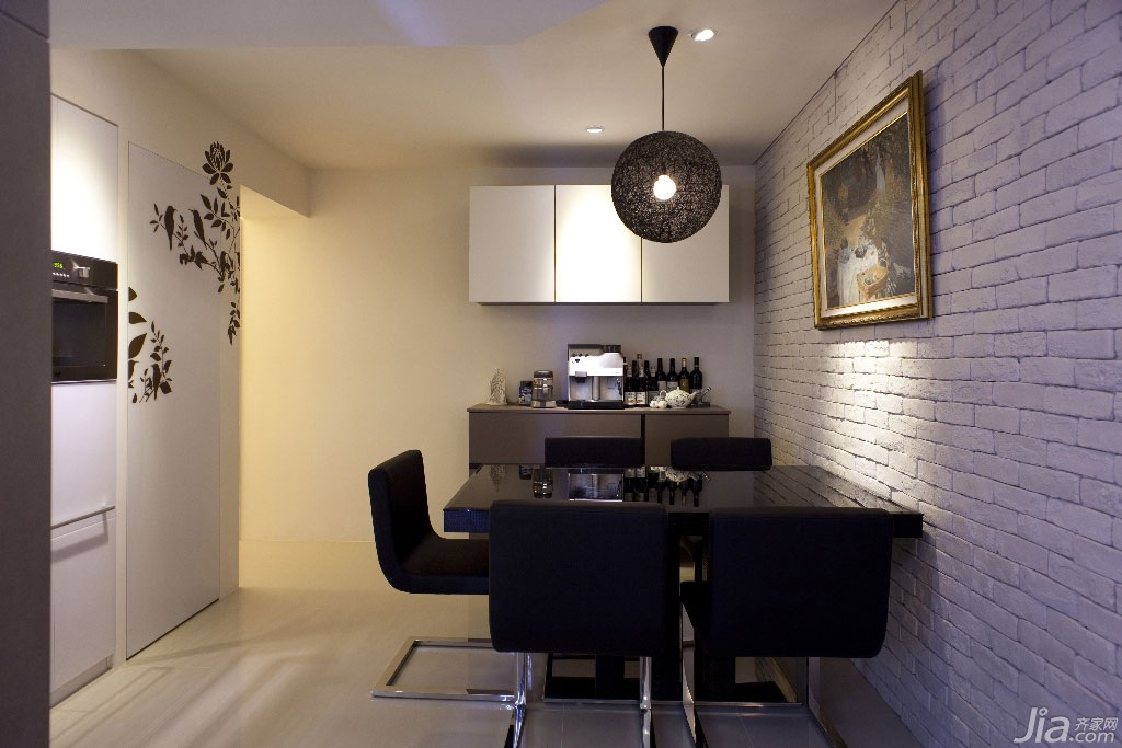 简约风格公寓富裕型100平米餐厅餐桌二手房台湾家居